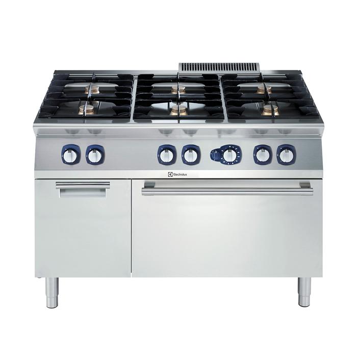 Cucina 6 Fuochi Con Forno Professionale Gas Serie 700 Sades Impianti Srl