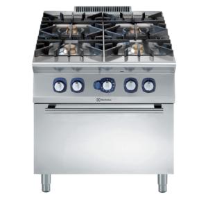 Cucina 4 fuochi a gas professionali con forno gas serie 900