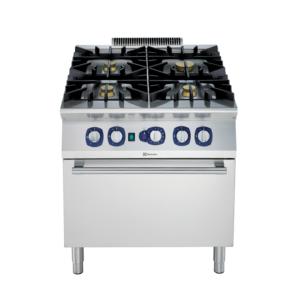 Cucina a gas 4 fuochi su forno gas a convezione