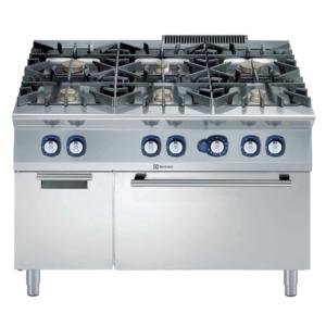 Cucina 6 fuochi con forno gas e vano armadiato