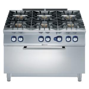 Cucina professionale 6 fuochi con forno gas