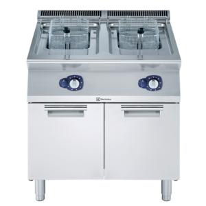 friggitrice gas 2 vasche da 15 litri ciascuna
