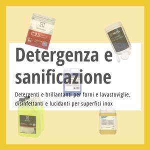 Detergenti e sanificanti professionali