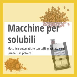 Macchine colazioni prodotti in polvere